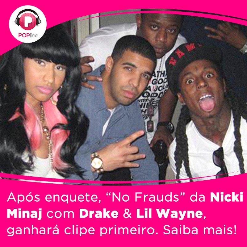 Os fãs da @NICKIMINAJ escolheram 'No Frauds' pra ganhar clipe antes! h...