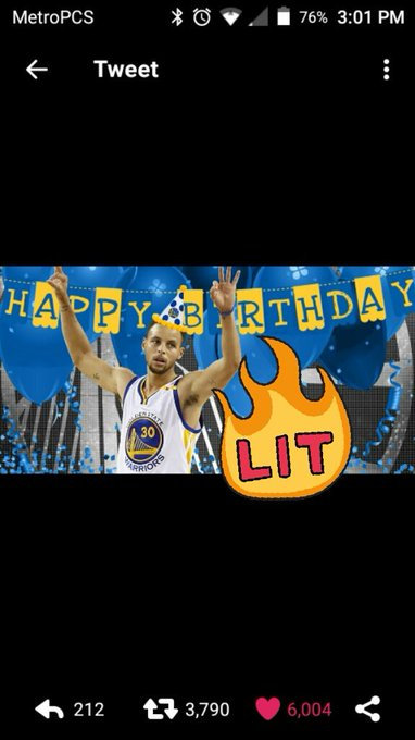 Happy birthday day Stephen Curry