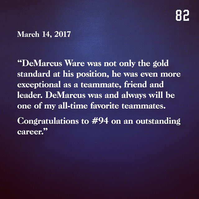 Tip of the cap to @DeMarcusWare