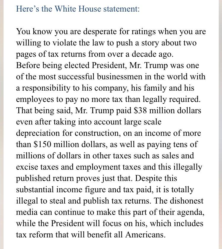 Rachel Maddow Reveals Trump's Tax Returns From '05, White