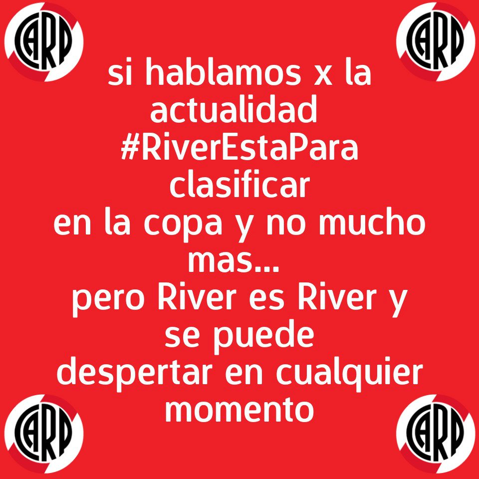 @RiverLPM #RiverEstaPara https://t.co/BIihzMMnZE