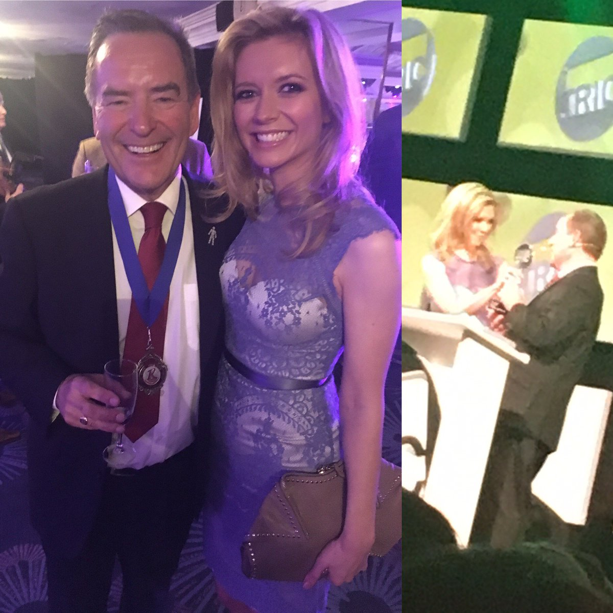 Legend Jeff Stelling pleased with his Best Sports Presenter @TRICaward...