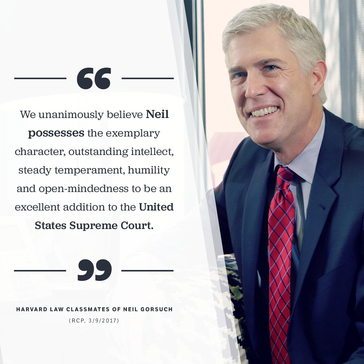 Judge Gorsuch goes before the Senate in 6 days. RT if he's got your full support. https://t.co/P7Tcshs9t0