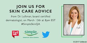 Join the party & get pro tips AD #SimpleSkinQA #TwitterParty on 3/15 at 8pm ET Prizes! RSVP ://