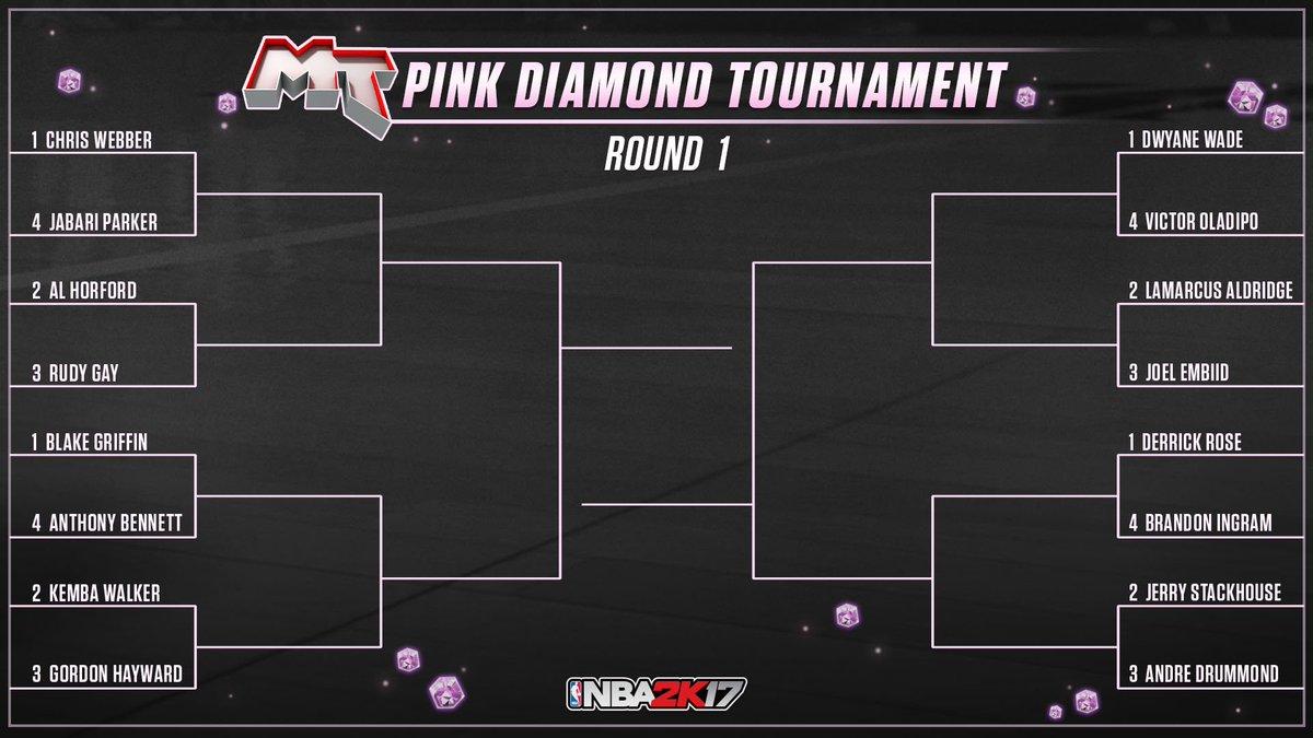 Pink Diamond Locker Codes Twitter - Nba 2k17 myteam on twitter introducing nba2k myteam pinkdiamond tournament 16 players match up winner is next pink diamond