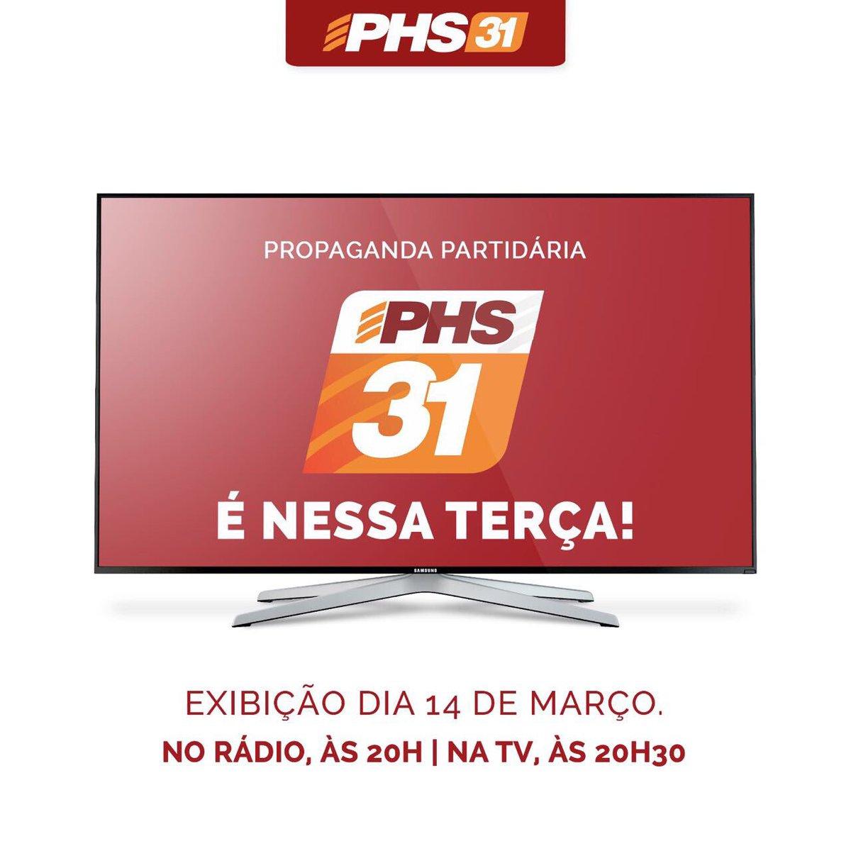 Fique atento!! Já já, às 20:30, tem PHS em rede nacional de TV. Assista. https://t.co/E7SvOIQWKc