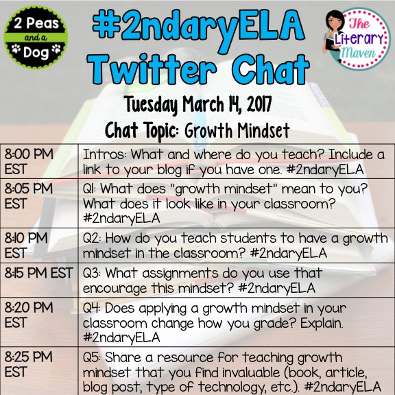 Welcome - here is a quick overview of our questions tonight #2ndaryELA https://t.co/3nC9DD9dBs