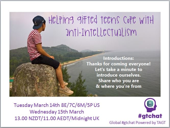 Let's take a minute to introduce ourselves. Share your name, location and role! #gtchat https://t.co/e7WiAuLxHa