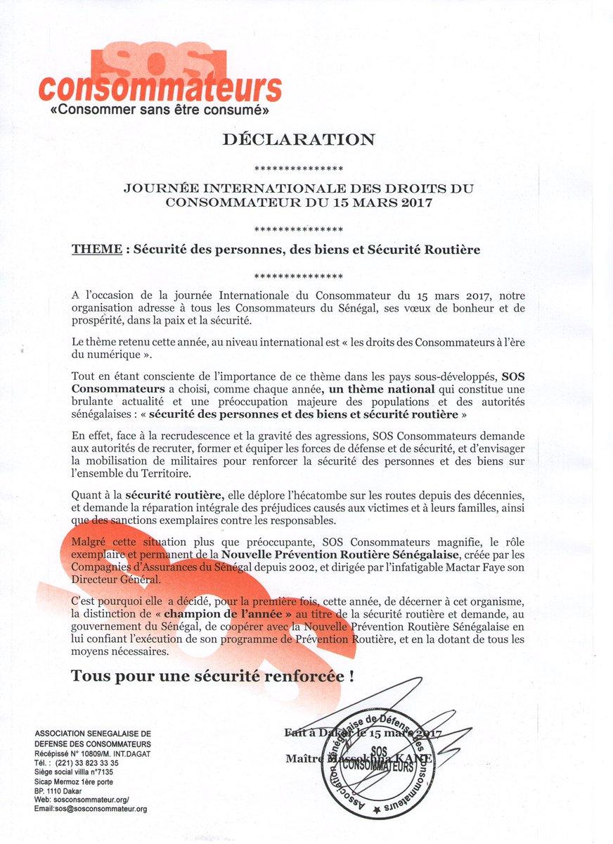 @MassokhnaKane #kebetu Journée mondiale des droits du #consommateur #vigilence <br>http://pic.twitter.com/W84bejIEyD