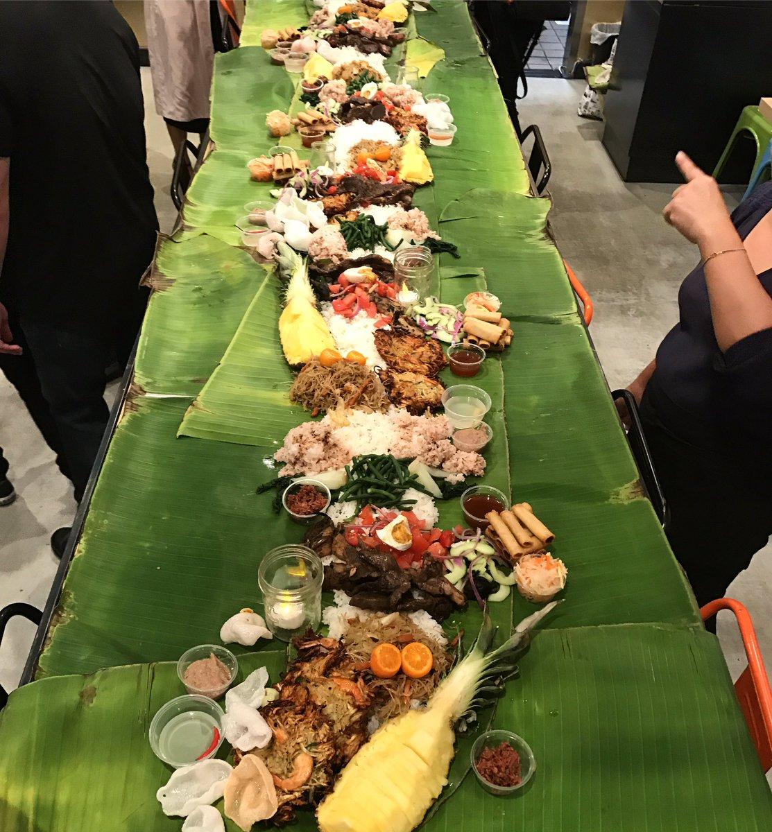 elatedpalate on Twitter  Kamayan Feast pop up by @carolineadobo and @dadthebaker Kamayan Dinner lots of food on top of banana leaves u2022no platesu2022no ... & elatedpalate on Twitter: