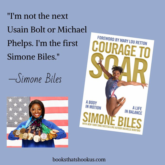 Happy birthday to Simone Biles! We have her memoir on our TBRs. Anyone read it?