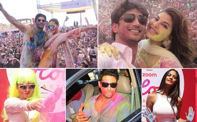 Celebrities Celebrating Holi : Holi Party  IMAGES, GIF, ANIMATED GIF, WALLPAPER, STICKER FOR WHATSAPP & FACEBOOK
