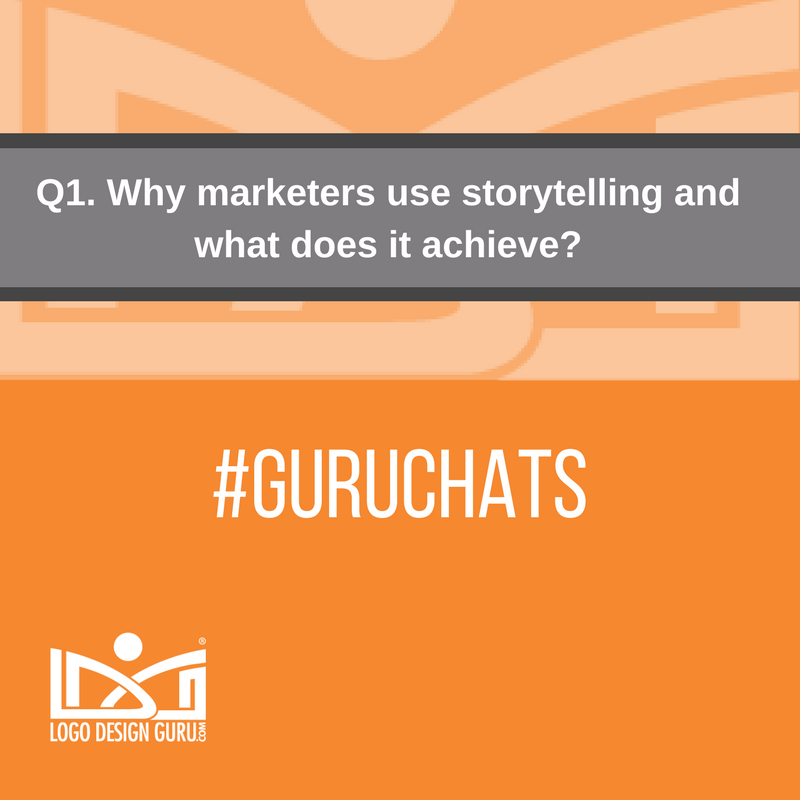 Q1. Let's tell the tale. Why marketers use storytelling and what does it achieve? #GuruChats https://t.co/TORDLFDlTO