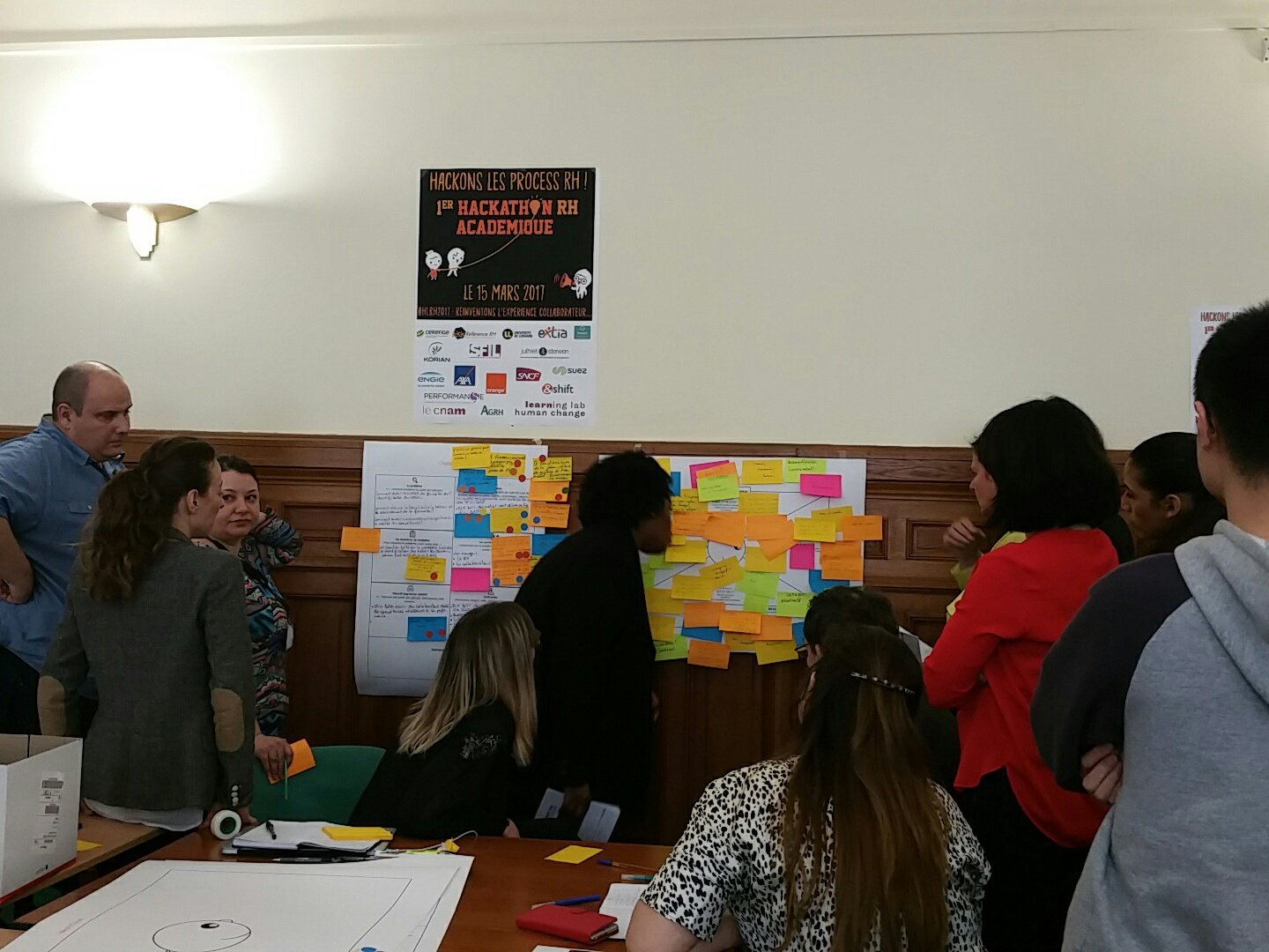 #HLRH2017 Brainstorming & Intelligence collective en action... Repenser ses process #OutOfTheBox https://t.co/OIzfgIM1iV