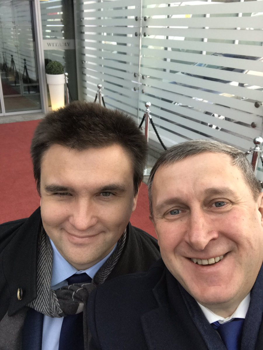 Ukrainian FM @PavloKlimkin is on visit in @warszawa