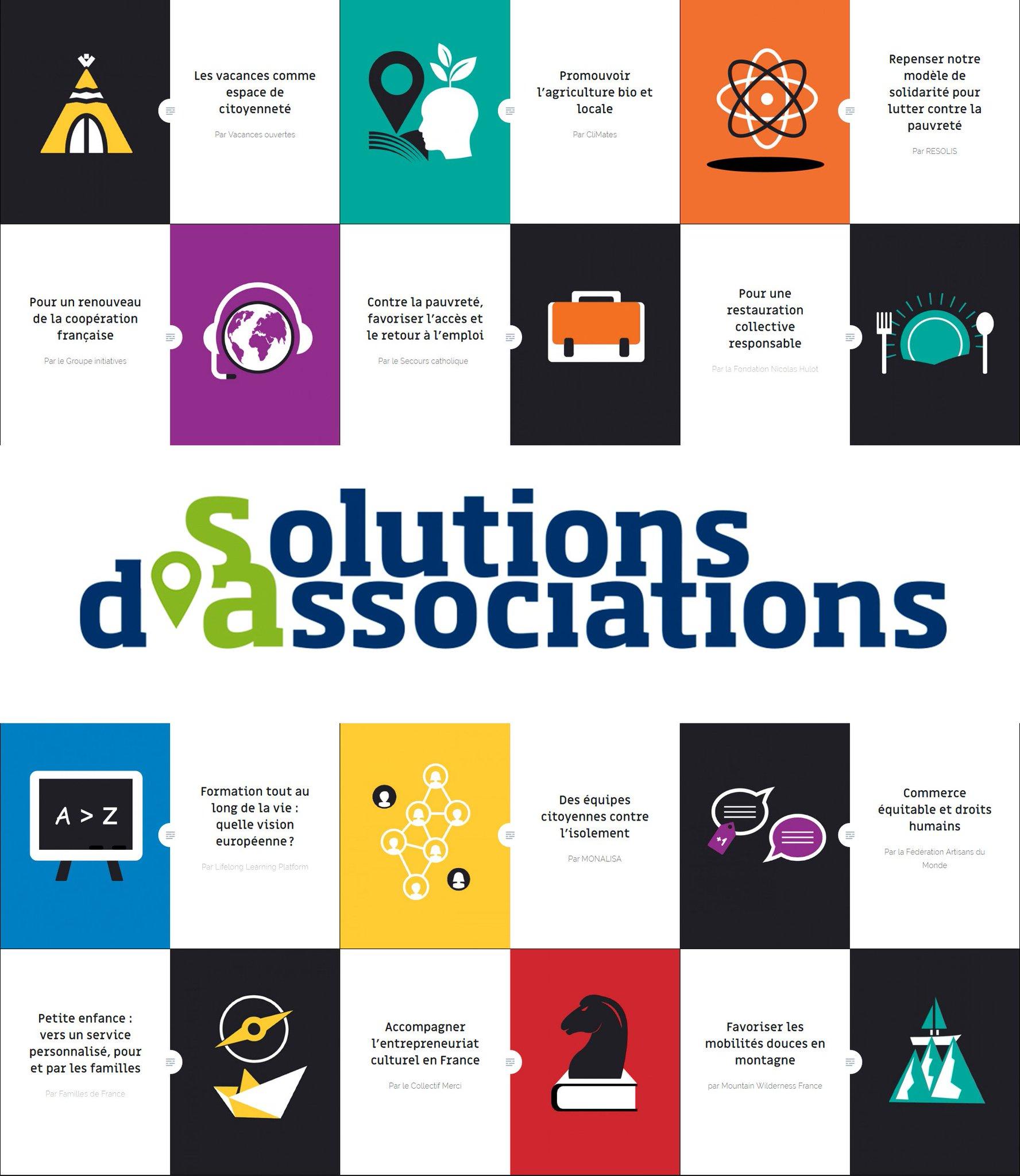 Nous lançons aujourd'hui avec @lemouvementasso le site https://t.co/bVCGPbH1iX Pour demain,les #assos ont des idées! #SolutionsdAssociations https://t.co/5V9FN5RqBo