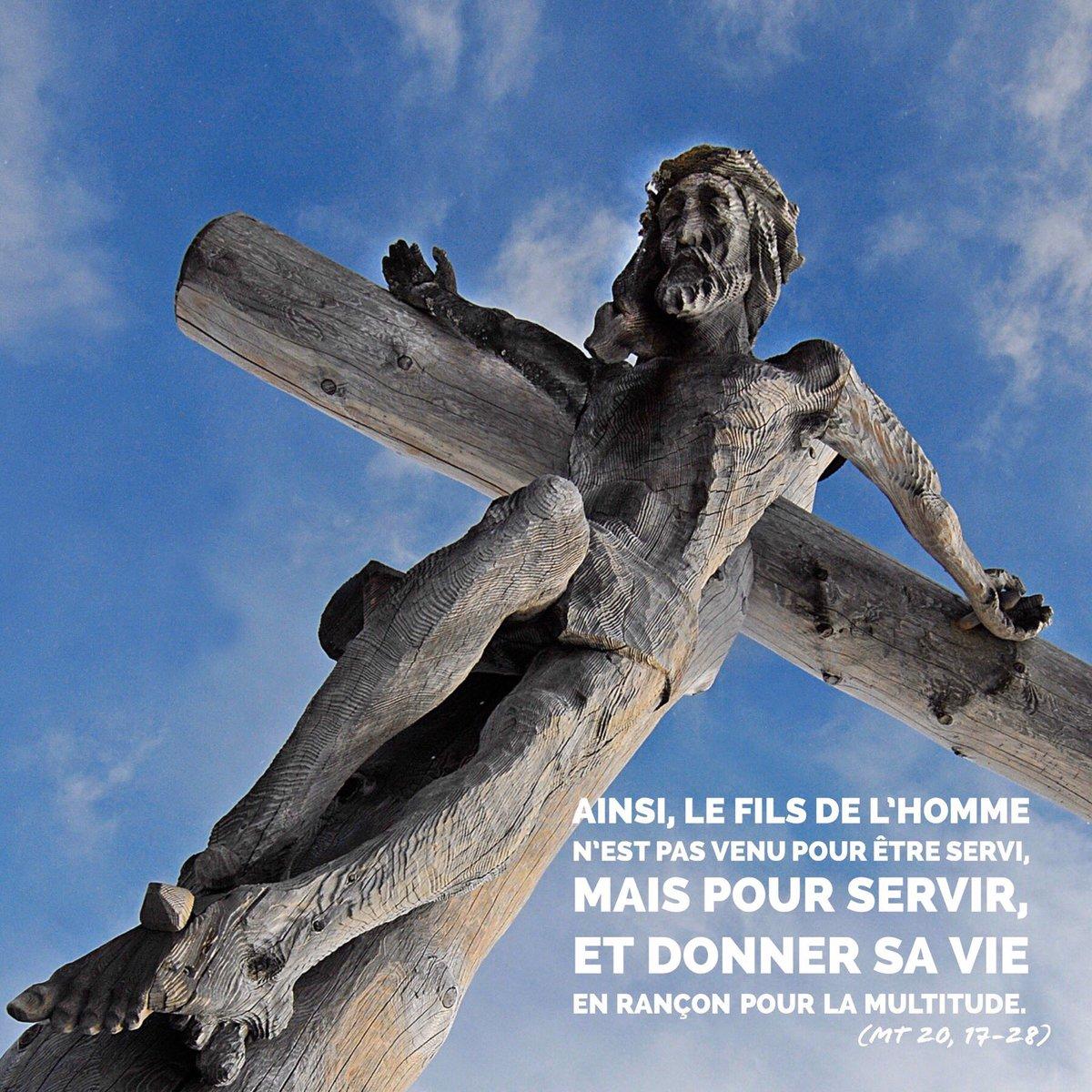 """Jeunes cathos Lyon Twitterren: """"[Carême] Jour 13⠀⠀ """"Ainsi, le Fils de  l'homme n'est pas venu pour être servi, ms pour servir, et donner sa vie en  raçon pour la multitude.""""… https://t.co/xnnrmtMePM"""""""
