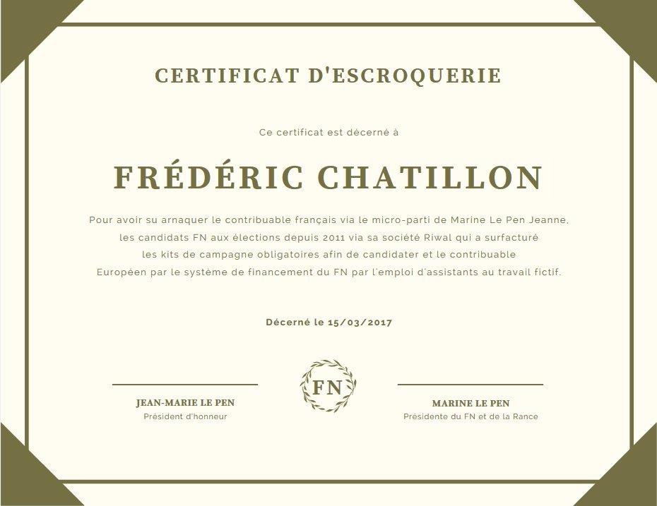 #JeSuis1EscrocFN #ResisTeamFR #NTMleFN @NTM_FN #SaintRaphael @fredchatillon @FN_officiel