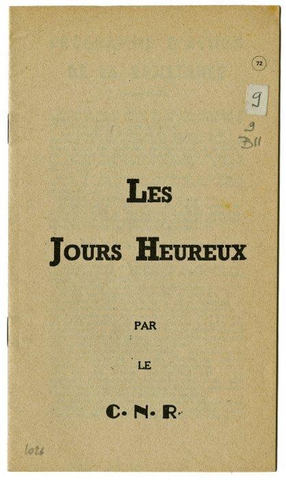 13)Le programme est distribué clandestinement, dans la presse mais surtout sous la forme d'un petit livret intitulé : « les jours heureux » https://t.co/jMDHALoJKz
