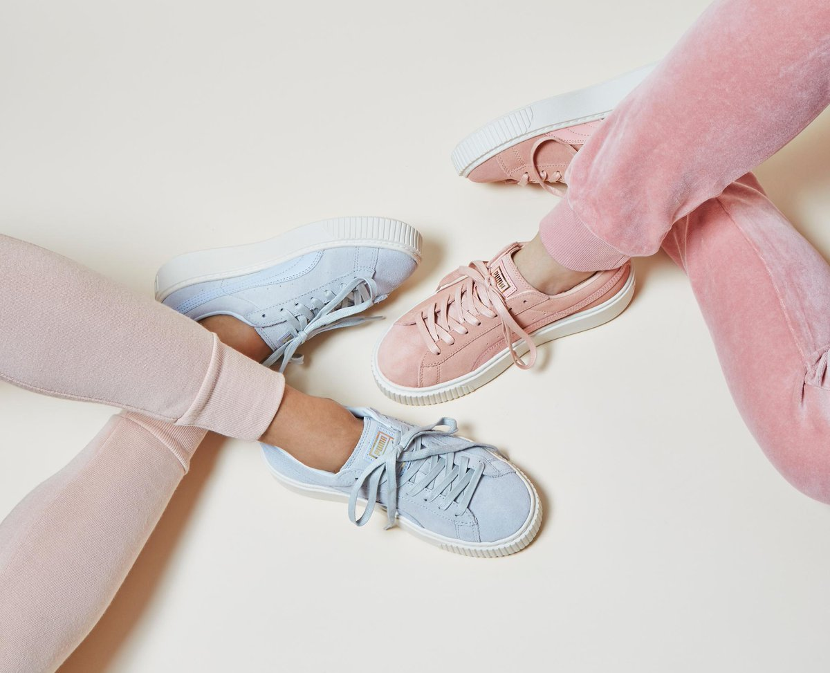 quite nice caa0c 53287 Suede Platforms Coral Pink Halogen Blue : Launching PUMA ...