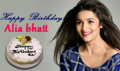 "Happy birthday ""Alia bhatt\""most important in my life........."
