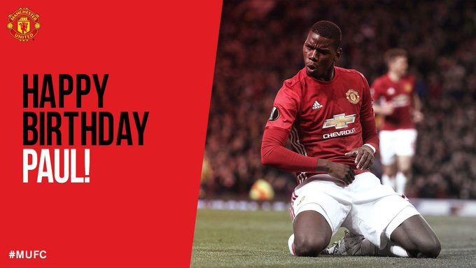Happy Birthday to the Expensive Midfielder in the World Paul POGBA.