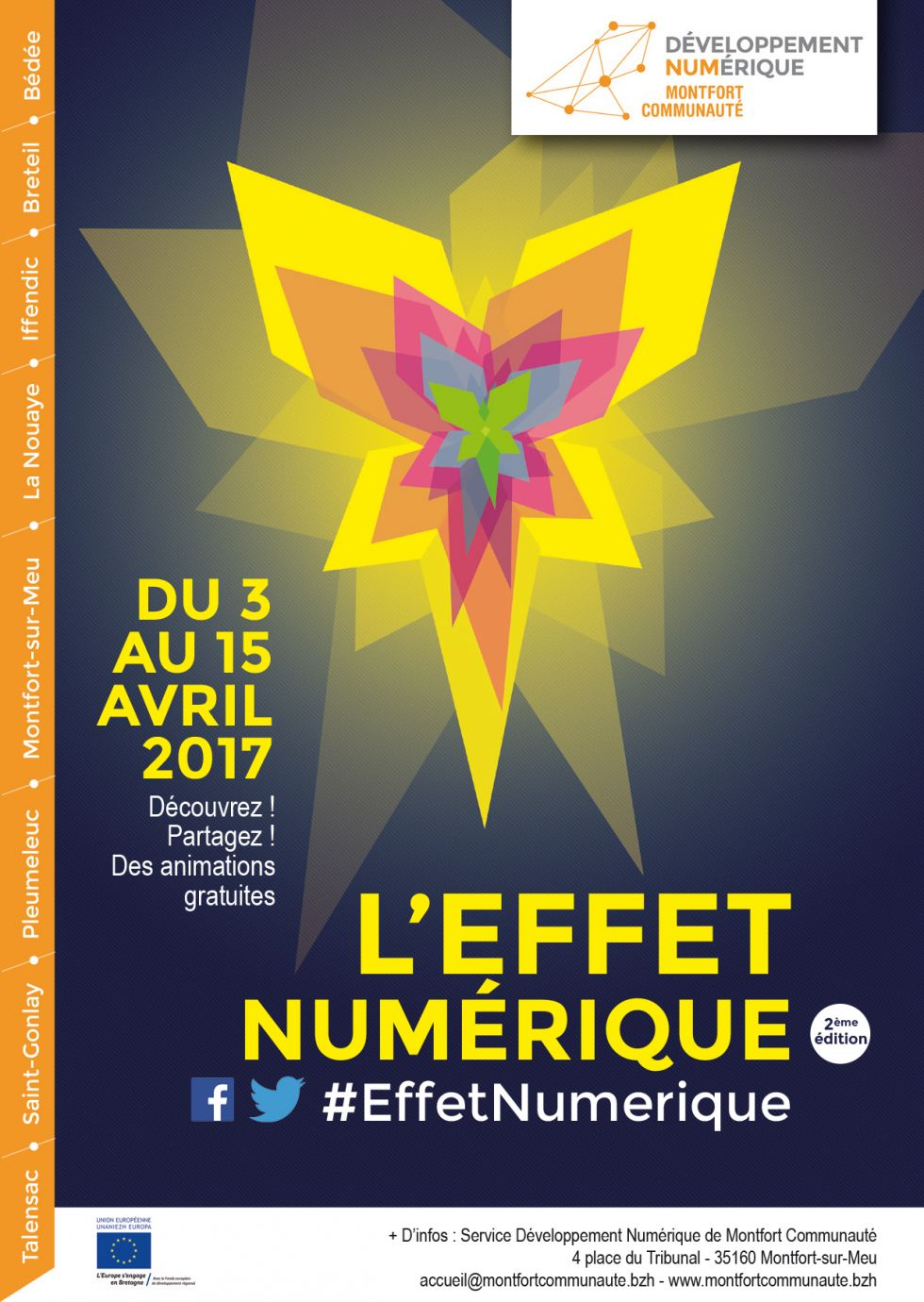 .@MontfortComCom organise du 4 au 15 avril la 2e édition de l'#EffetNumérique https://t.co/5pGKiT3PuY https://t.co/M4pJTIqdEK