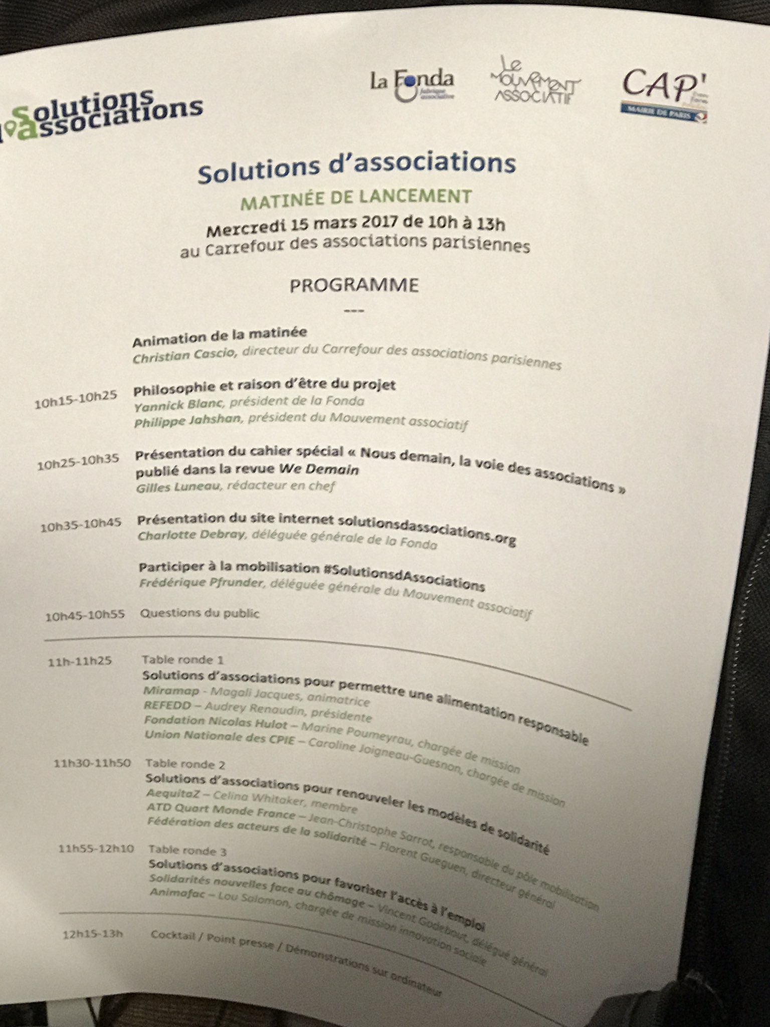 Au programme @fonda2020 @lemouvementasso #solutionsdassociations.org https://t.co/Vf0TsewnNj