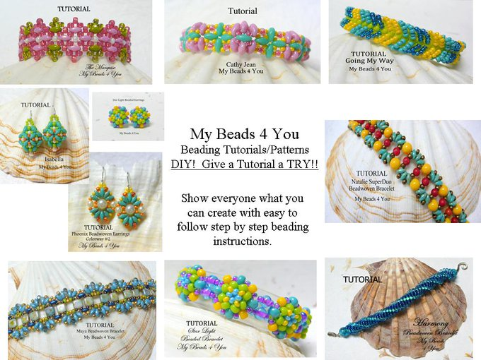 Beading Tutorials and Patterns, Beaded Jewelry by mybeads4you