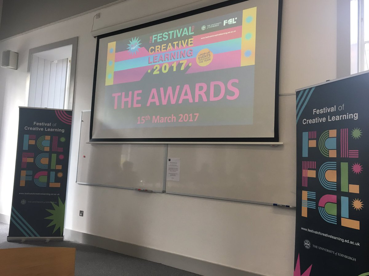 Great news - the  #uoehackathon was awarded the runner up prize in the Experimental category @UoE_FCL awards! 👌😀🎉 https://t.co/K6cfMe7HGN