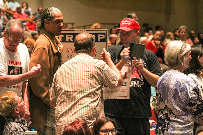 Tensions rose at @RepLowenthal's town hall @LBCityCollege. #News #LongBeach #LBCC #49erNow https://t.co/XTf7xwhcHr https://t.co/HawfdbdBEg