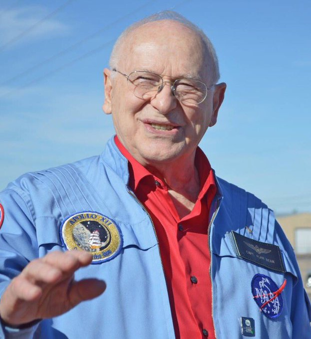 Happy birthday to Alan Bean! The fourth man to walk on the moon