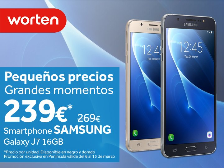 Worten España On Twitter Llévate A Casa Tu Samsungespana Galaxy J7 Por Solo 239 Y Disfruta De Nuestros Pequeñospreciosgrandesmomentos Https T Co Dnkn8j9qzk Https T Co F5rfscye61