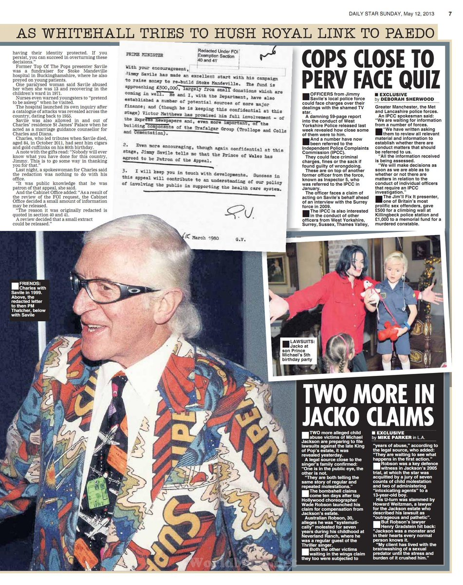 prince in savile cover up daily star sunday 12 05 13