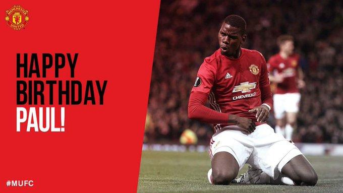 Happy 2  4  th birthday to Paul Pogba
