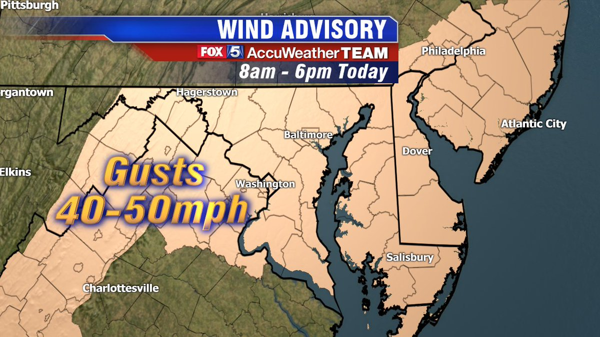 Very windy again today! Wind Advisory in effect until 6 PM. Wind gusts...