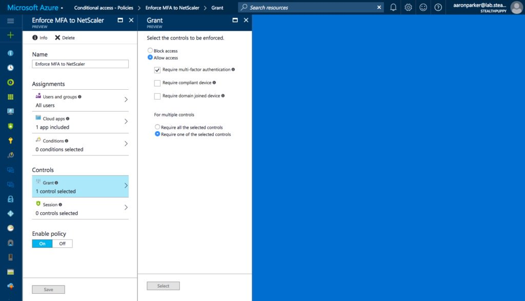 Integrating @Citrix #NetScaler with #Azure AD and Conditional Access https://t.co/irPzJ6CQuQ https://t.co/toQ2Wvgkpe