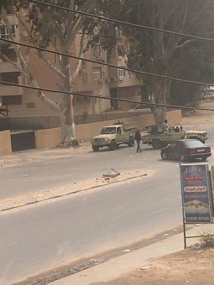 More roads are being blocked in Tripoli and heavy artillery sounds still heard in residential areas. Tension very high Libya