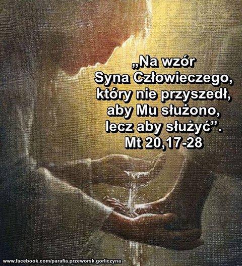 """Ks. Tomasz Lemański on Twitter: """"""""(...) Syn Człowieczy, nie przyszedł, aby Mu  służono, lecz aby służyć i dać swoje życie na okup za wielu""""(Mt 20,28).  #Ewangelia https://t.co/8FIyiQ093E"""""""