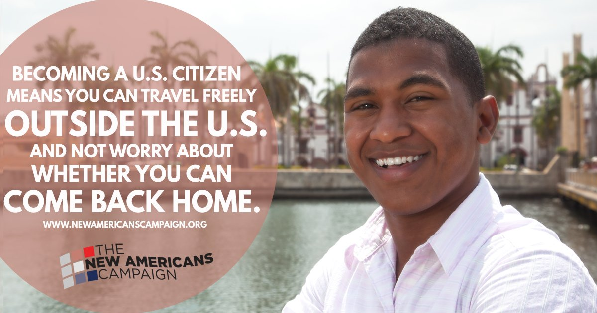 Naturalized citizens are able to travel freely. Attend a #NewAmericans workshop to learn more: https://t.co/zROLzjZWTQ https://t.co/muiNEySFlG