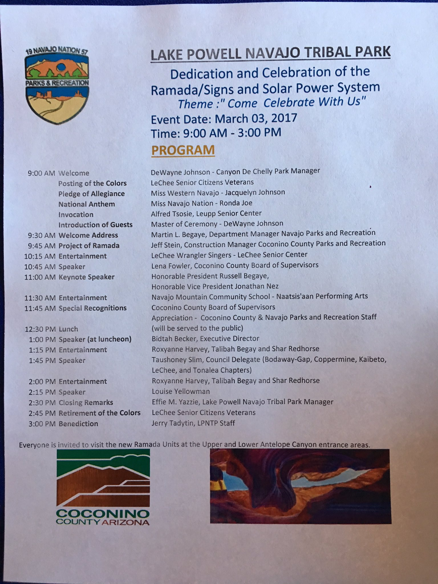 Arizona coconino county leupp - Jonathan M Nez On Twitter This Am We Are At Lake Powell Navajo Tribal Park To Celebrate The New Ramadas Interpretative Signage Solar Panels For The