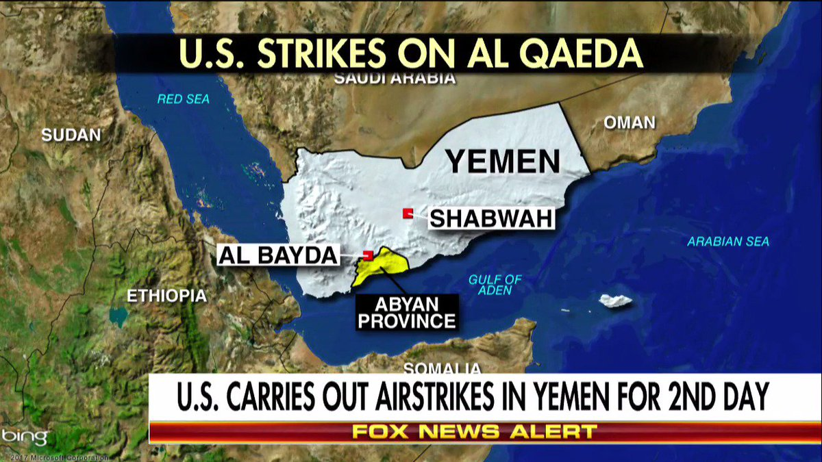 U.S. carries out airstrikes in Yemen for second day