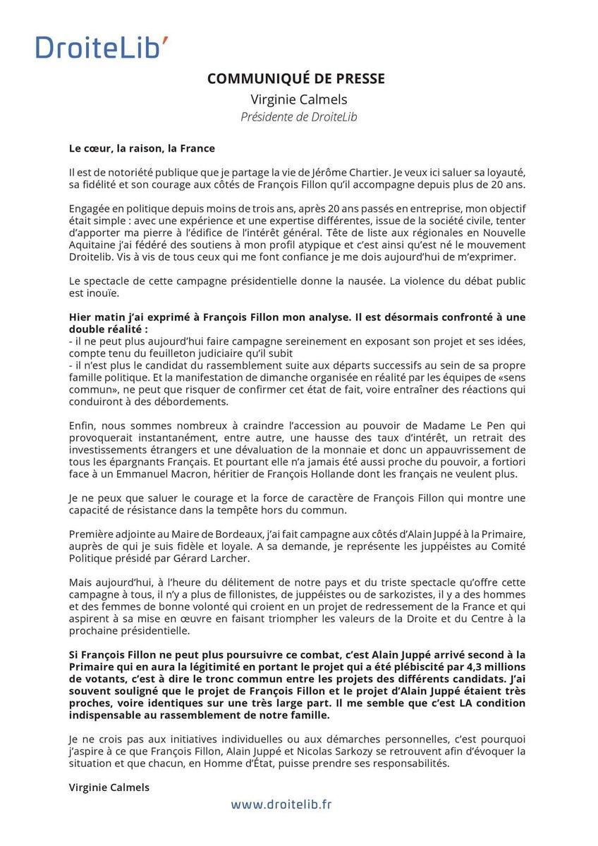 [ Communiqué de presse ] Le coeur, la raison, la France ➡️ droitelib.fr