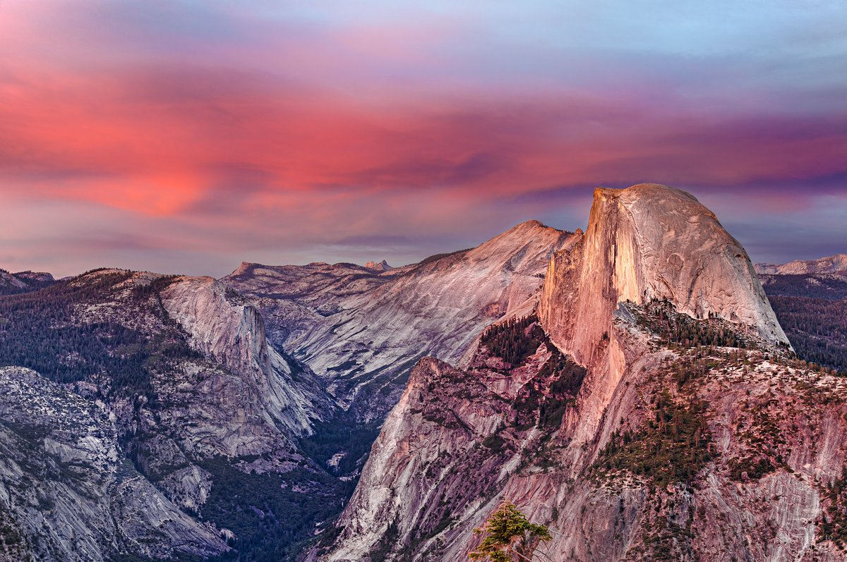 Pink Skies Over Half Dome