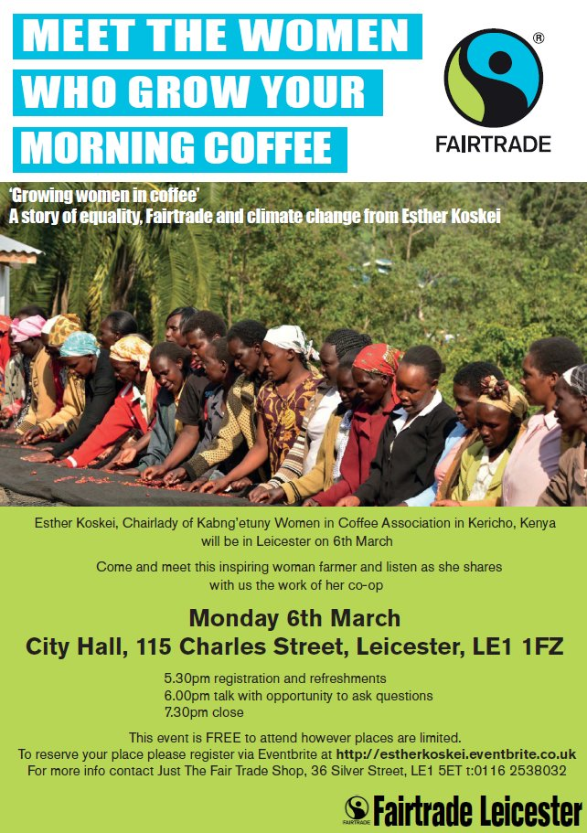 Really looking forward to the #Fairtrade Producer talk on Mon with Esther Koskei. There are still a few tickets left https://t.co/YeLDkdkBuS https://t.co/qmRosN1pnq