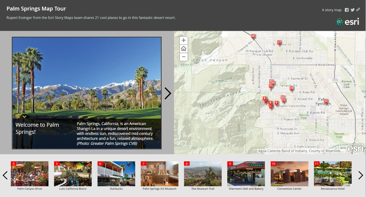 Map Of California Showing Palm Springs.Esri Story Maps On Twitter Attending Esriepc Or Devsummit Get