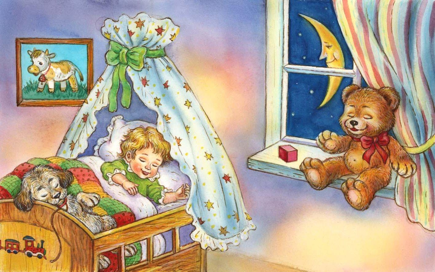 Картинка ночь для детей