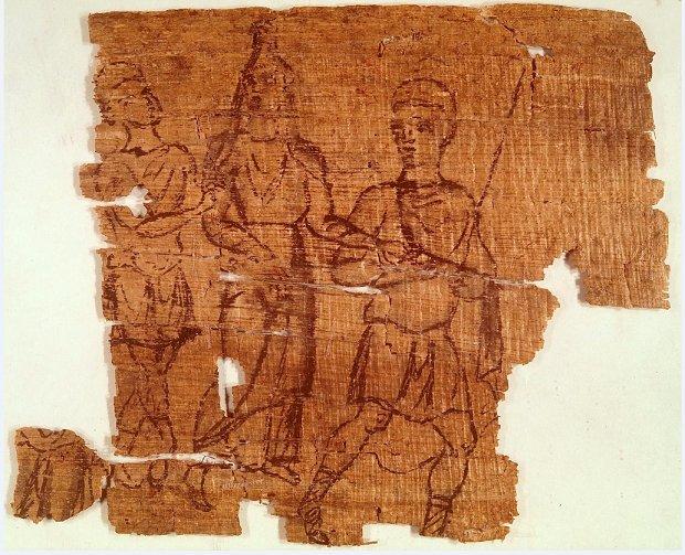 بردية مصرية تمثل نموذجاً نادراً لرسم ايضاحي للإلياذة يرجع تاريخه ربما إلى فترة ما قبل مجيئ الإسلام. https://t.co/UNJz2hgKs1 https://t.co/zPh00xnWRW
