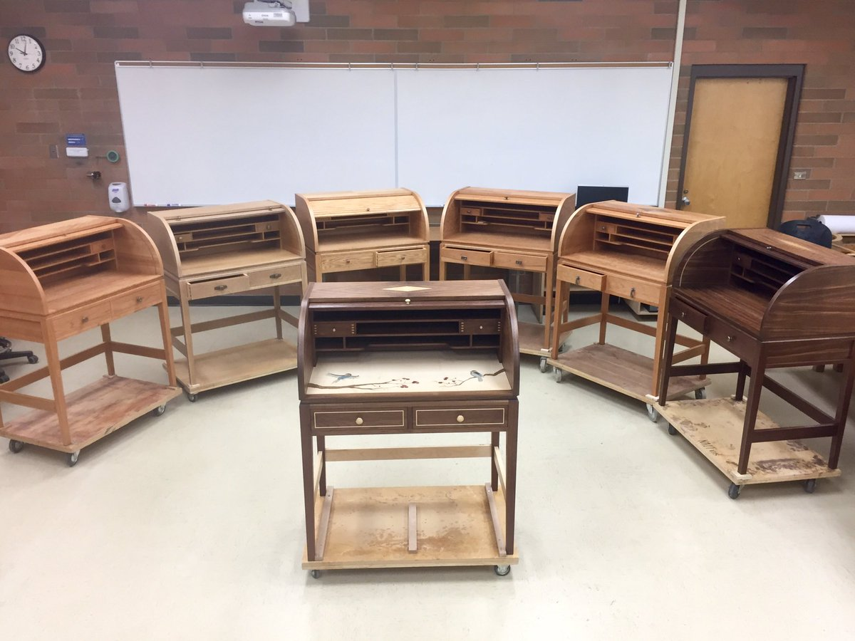 NAIT On Twitter Check Out The Cabinetmaker 4th Year Final Projects Arent These Roll Top Desks Beautiful Abpse Tco T6yLimtiAL