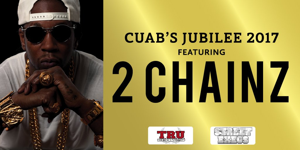 That's right...2 CHAINZ is coming to #UNC!! Get tickets now at https://t.co/r6owWgLgNv